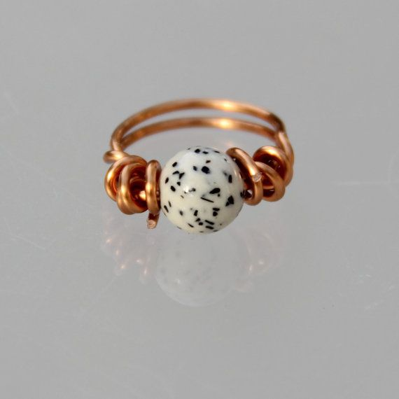 Sterling silver stone Howlite ring Free US Shipping handmade anni ...