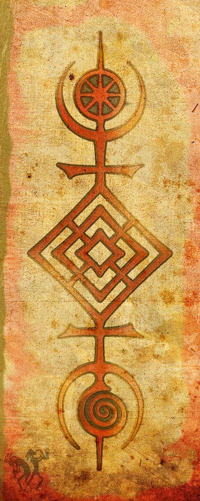 """Árvore de vida por Tom Butler, um Druid Símbolo ADF """"O Sigilo do Cosmos"""" a """"árvore da vida"""" expressa principais conceitos pagãos. A Roda dos Poderes Sky. O Salão de Lugh, o padrão do Salão dos Deuses. A espiral, sinal do submundo do fluxo potential.Sign, unshaped das deusas de águas. O símbolo próprio foi elaborado pela primeira vez por Ian Corrigan para ADF"""