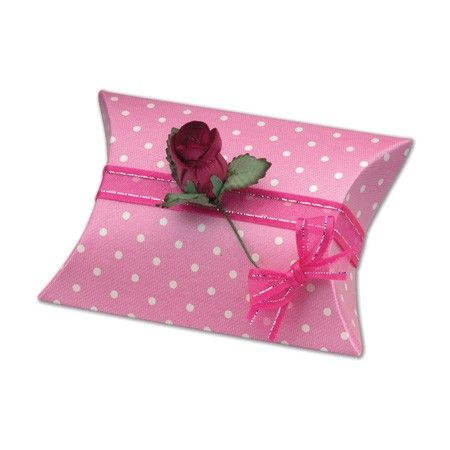 £3.38 Spotted Pink Pillow Box 10pk