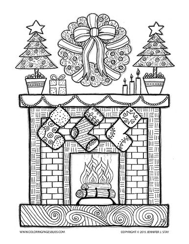 Christmas Stockings Hung By The Chimney With Care Coloring Pages Christmas Coloring Pages Free Christmas Coloring Pages
