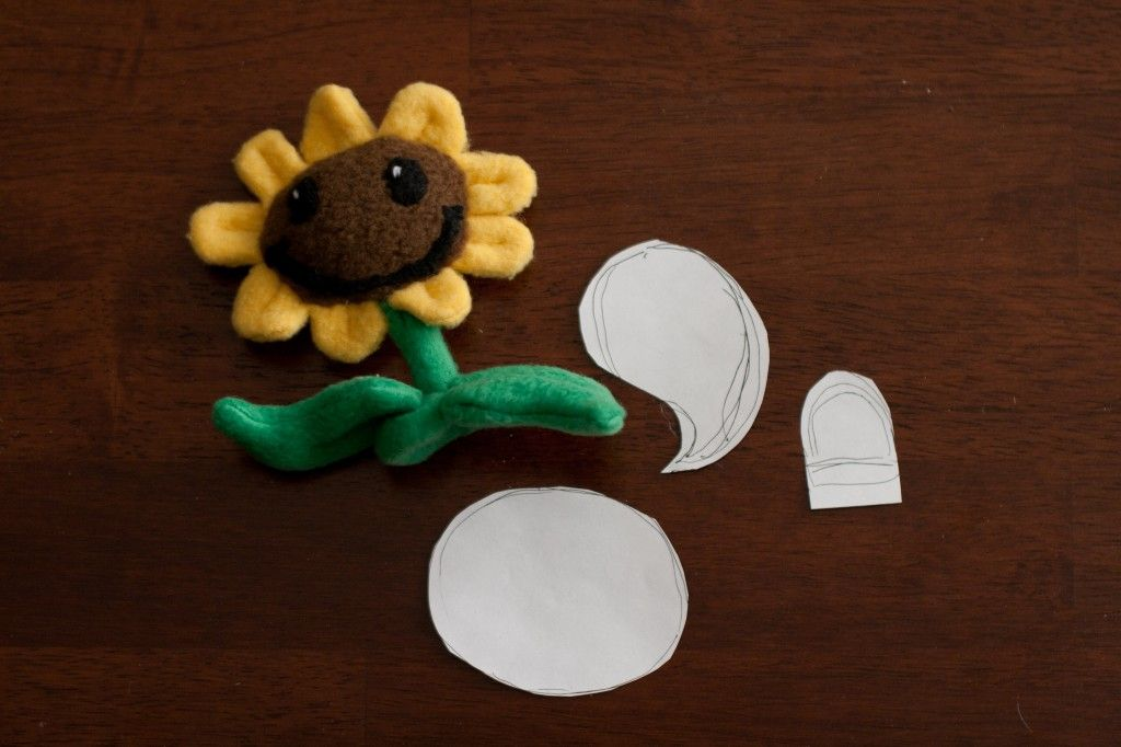 Dr Terri S Plants Vs Zombies Sunflower With Pattern Plants Vs Zombies Zombie Felt Sewing Crafts