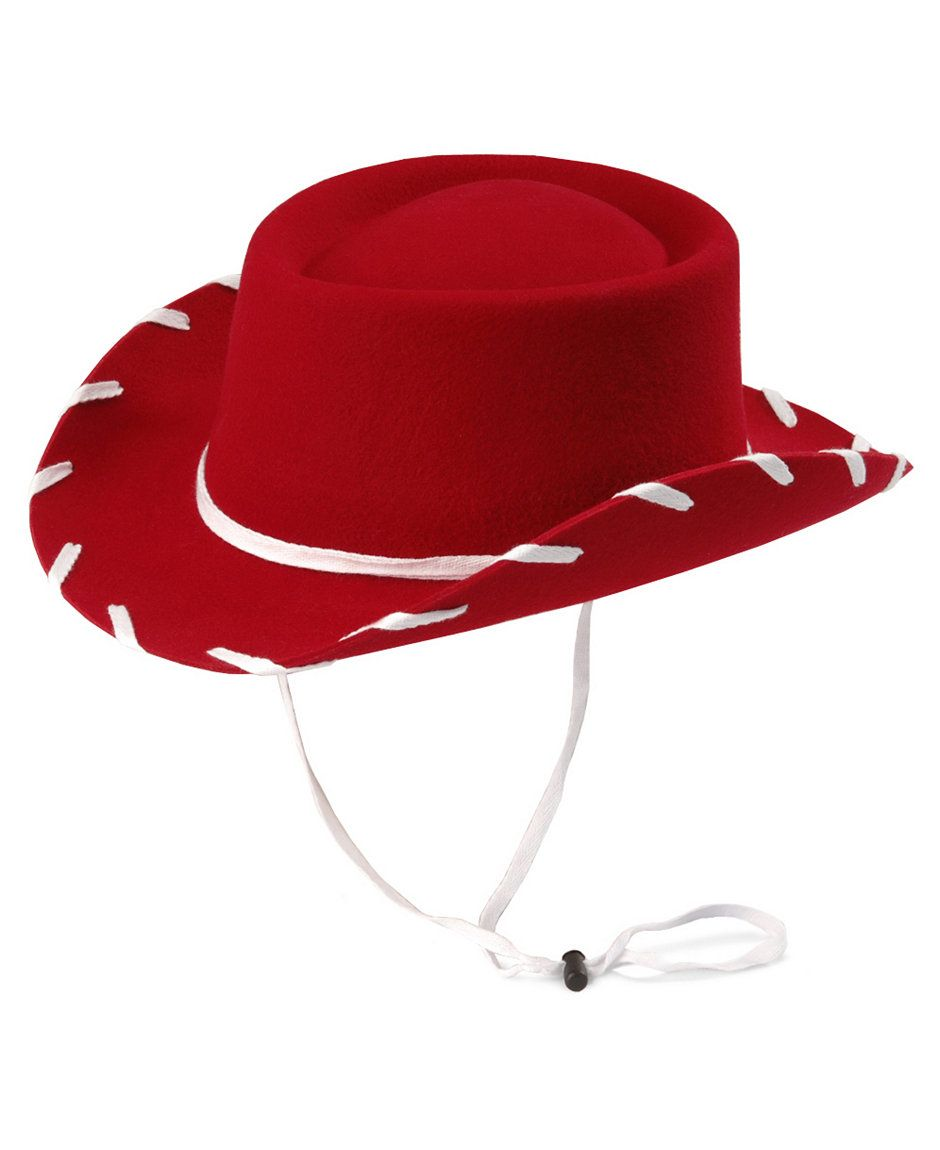 ADULT LADIES RED COWBOY COWGIRL STETSON HAT TOY STORY JESSIE STYLE  H36 444