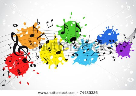 Colorful Music Note Border Clip Art Notes Frame Clipart Free