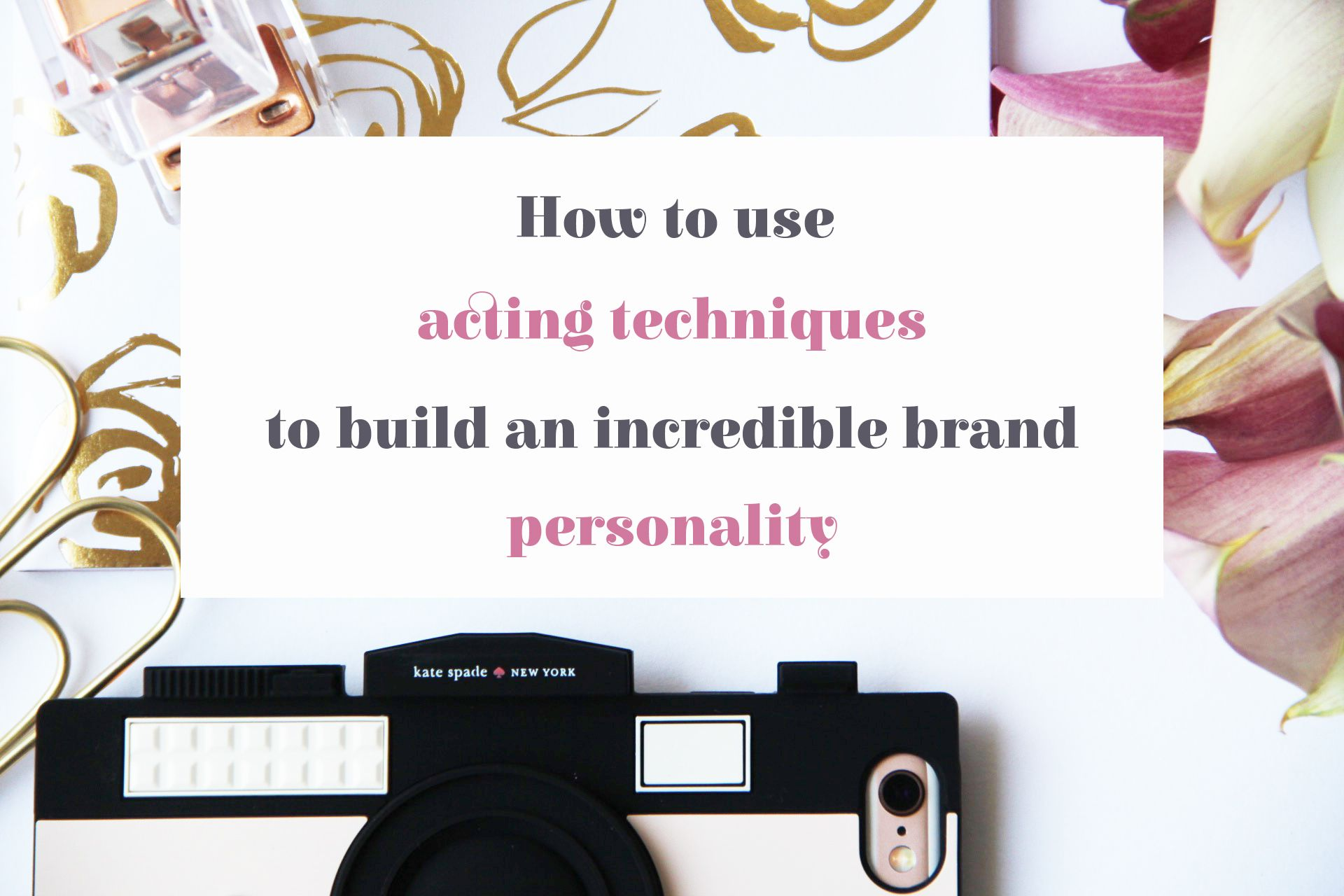 Want to build a strong online business brand personality? Enroll in this e-course  that uses acting techniques to get you more followers. Branding, How to grow, Creative business, Entrepreneurs, Blogging Tips