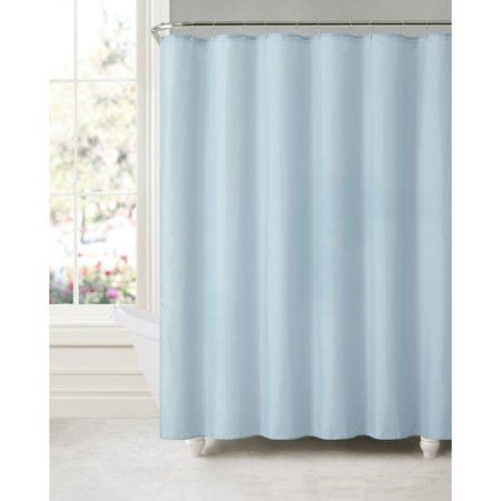 Discontinued Victoria Classics Suction Cup Shower Curtain Liner Blue Blue Shower Curtains Fabric Shower Curtains Curtains