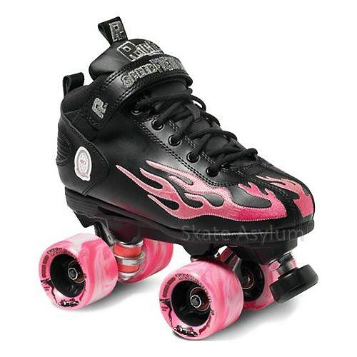 Skates For Sale >> Suregrip Rock Flame Skates Black Pink Sure Grip Quad Skates