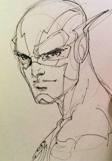 Sketch Of The Flash By Jim Lee Superheroes Dibujos Flash