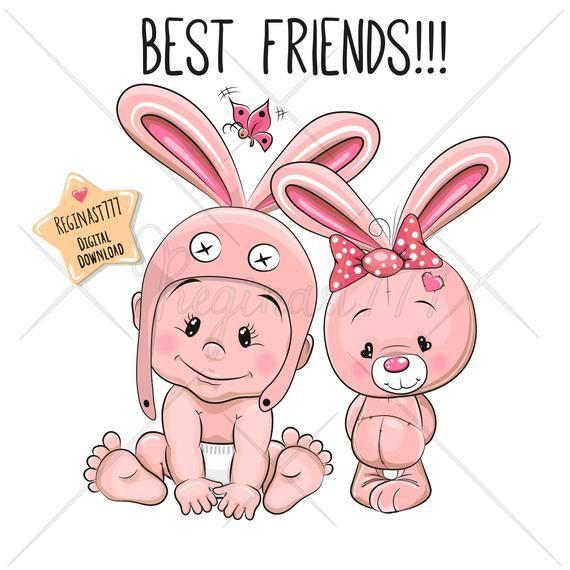 Cute Baby Clipart Png Baby Clip Art Bunny Digital Download Etsy In 2021 Baby Clip Art Baby Cartoon Cute Cartoon