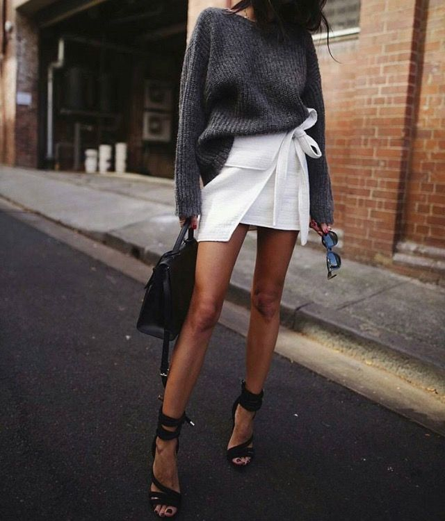 Obsessed with asymmetric skirts!