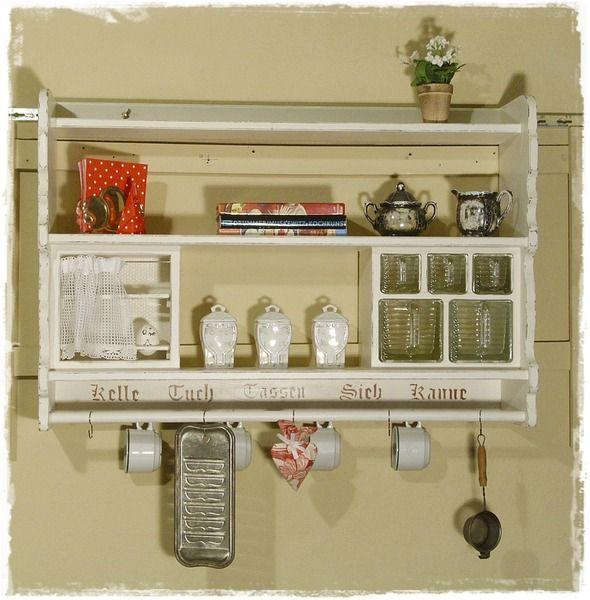 Küchenregal, Wandregal, Küchenregale, Shabby chic von Ansolece auf - küchen wandregal landhaus