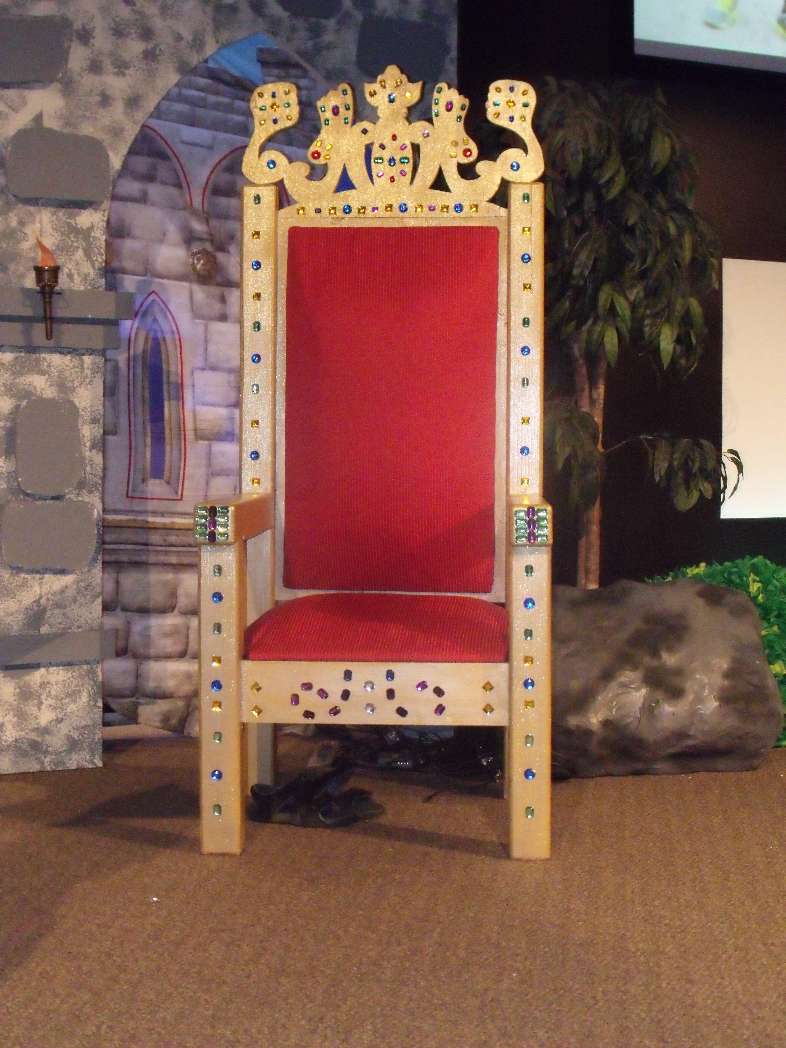 Main stage throne  Castle decor, Christmas play, Church decor