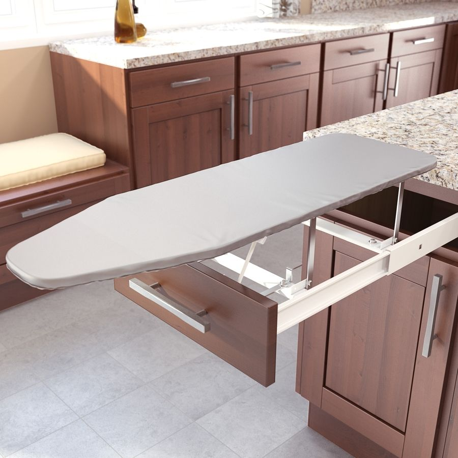 Vauth Sagel Drawer Mount Pull Out Ironing Board White 9000 0120