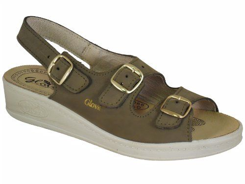 8929e59e4199 Ladies Superb Quality Glove Leather Italian Made Sandals Olive UK 6 Glove  http
