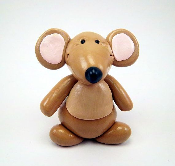 Polymer Clay Mouse by CollisionofClay on Etsy, $14.95
