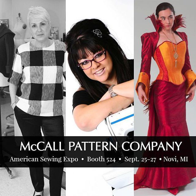 If you're going to the American Sewing Expo this weekend, stop by our booth and talk sewing with us! Meet McCall's Designer Joi, get sewing and fit tips from our own Tatyana, and talk cosplay sewing with us. In Novi, MI. #americansewingexpo #cosplaysewing #mccallpatterncompany