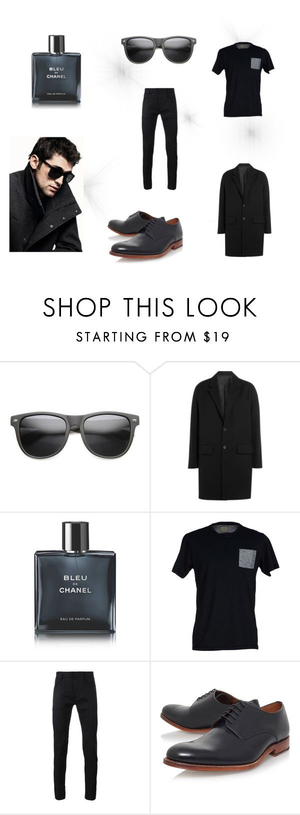 """men´s"" by camilla-sjoeberg on Polyvore featuring DKNY, AMI, Chanel, SELECTED, Haider Ackermann, Grenson, men's fashion and menswear"
