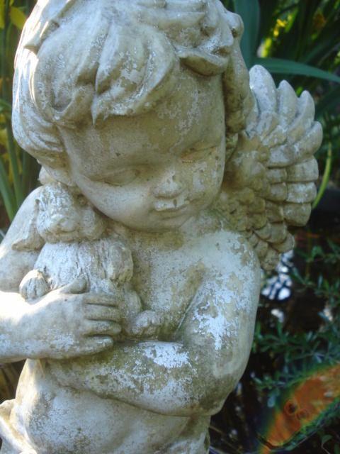 Adorable Garden Cherub Angel Statues Cherub Vintage Angel Wings