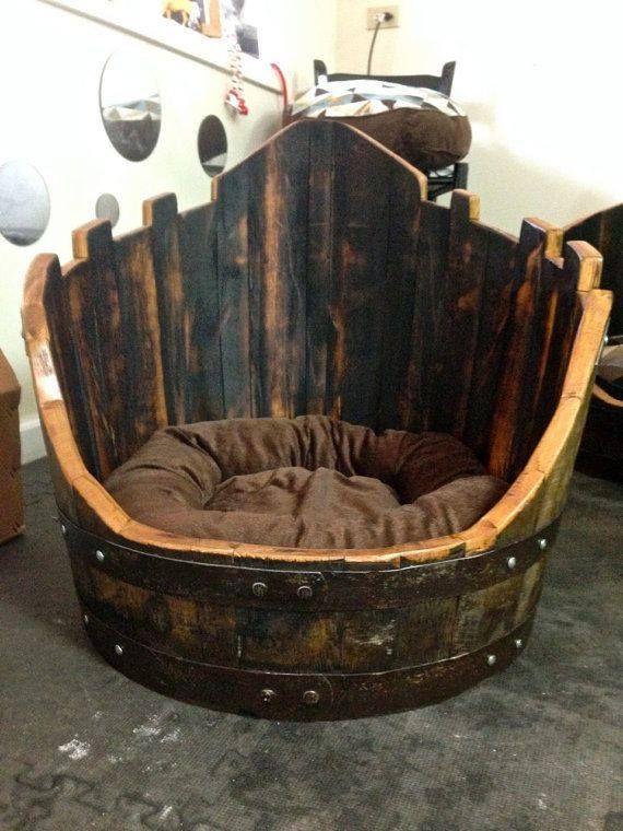 Dog Bed For Jack Daniel Barrel Theme Basement