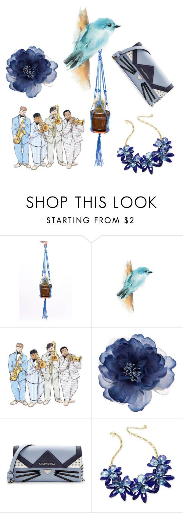 """""""Blue Beauty"""" by danceofthesoul ❤ liked on Polyvore featuring beauty, Accessorize, Karl Lagerfeld, Kate Spade and Blue"""