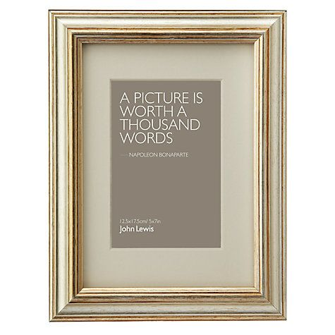Buy Amelia Photo Frames Champagne Online At Johnlewis Mint