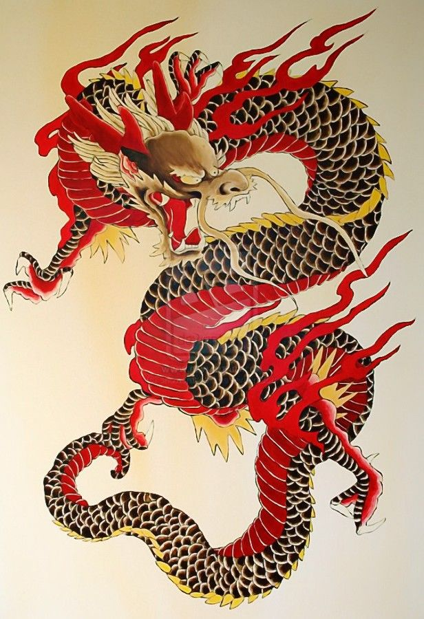 traditional chinese Dragon. Dragon illustration