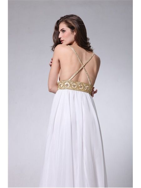 Ally Beaded Grecian Chiffon Dress Bridesmaid Dressesformal