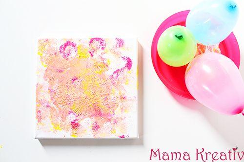 4 ideen zum malen mit kindern auf leinwand video ideensammlung malen mit kindern basteln - Leinwand bemalen mit kindern ...