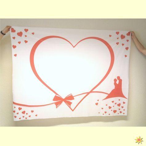 Hochzeitslaken Herz Mit Brautpaar Zum Ausschneiden Herzlaken