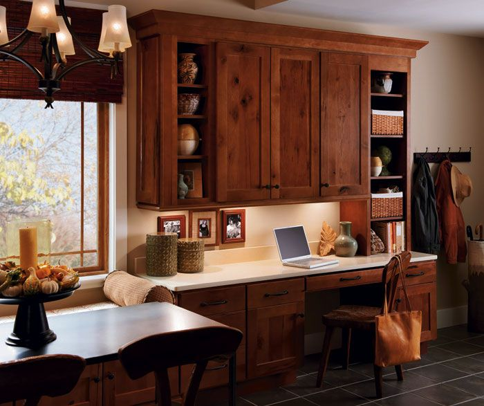 Homecrest Cabinets Rustic Hickory Dover Cabinet Door Style Modified Full Overlay Cabinetry
