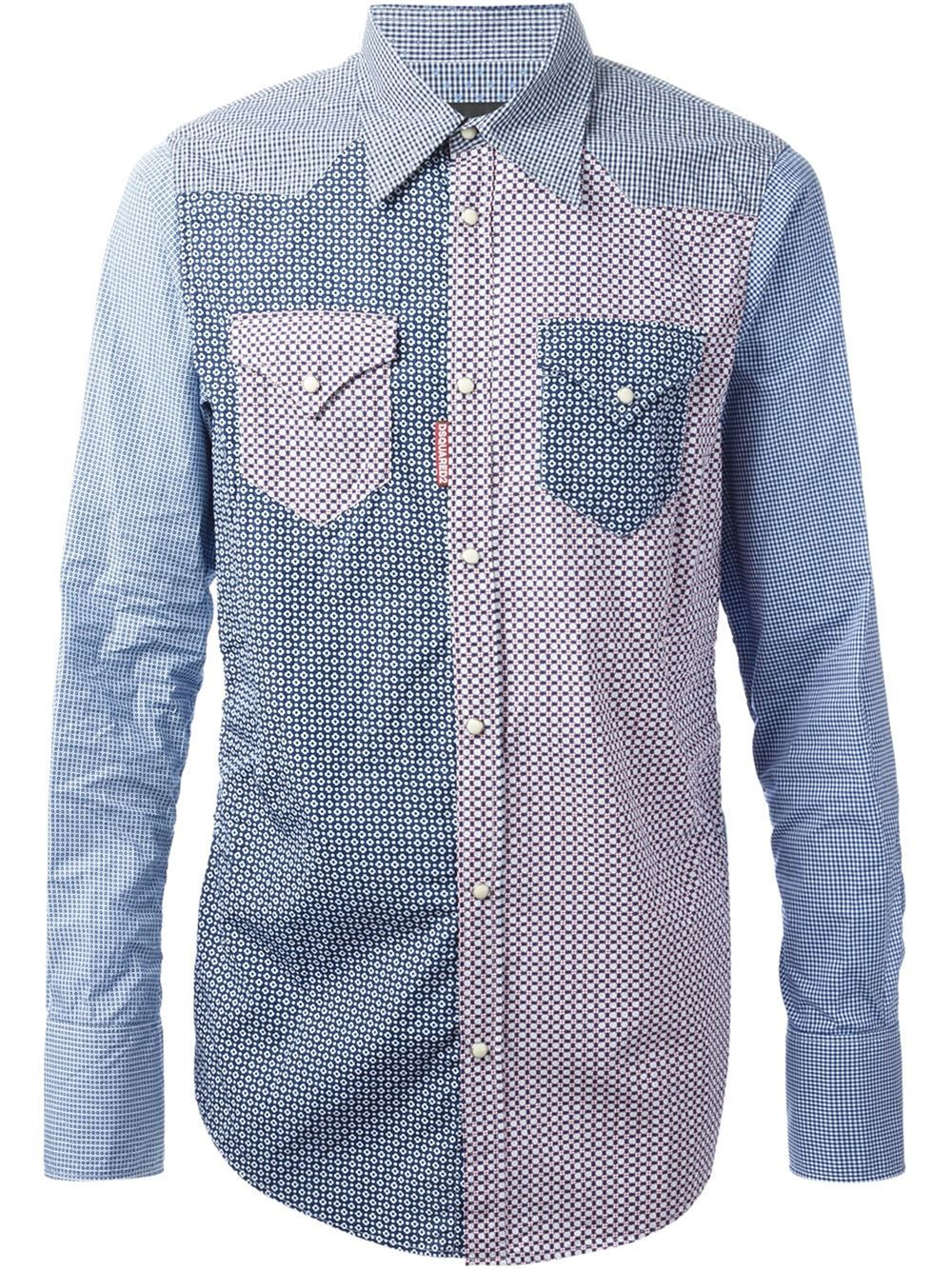 fe739b9a46 Dsquared2 Camisa Con Mezcla De Estampados - Farfetch. Fashion StoresWomen s  FashionMen ShirtsDress ...