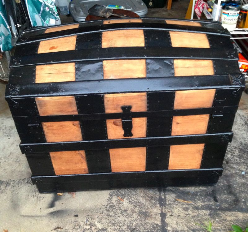 Dome Top Steamer Trunk Repair (With images) Top steamers