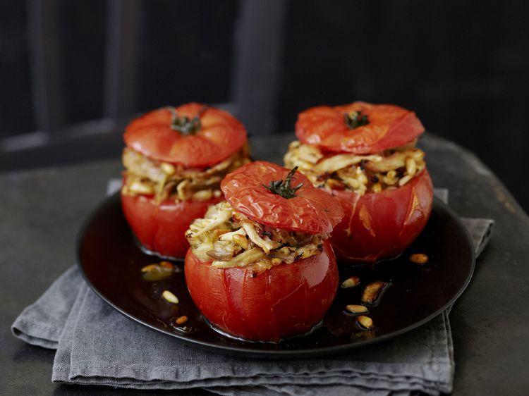 Tomates farcies à la volaille   Recette en 2020   Recette ...