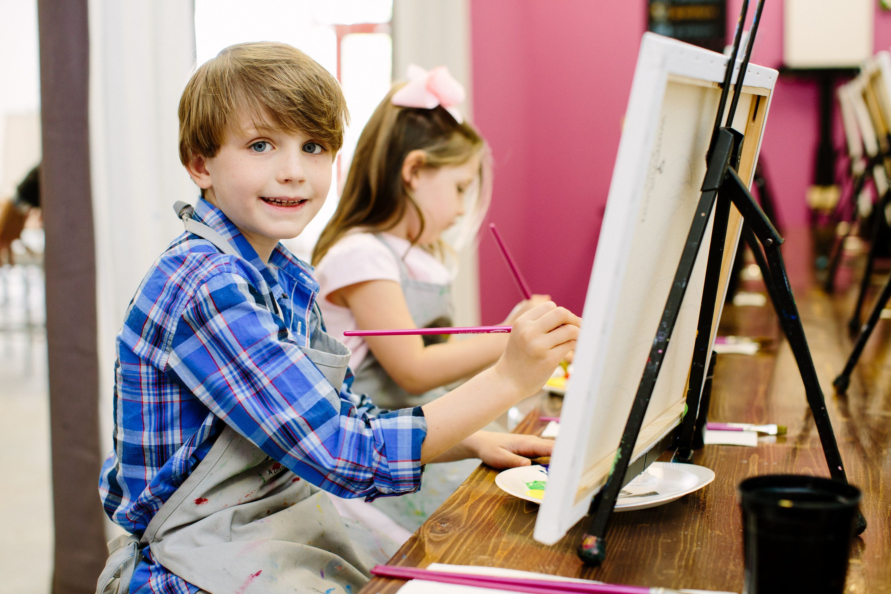 Guided Painting Classes Wine Designs Art Buzz Kids Program In