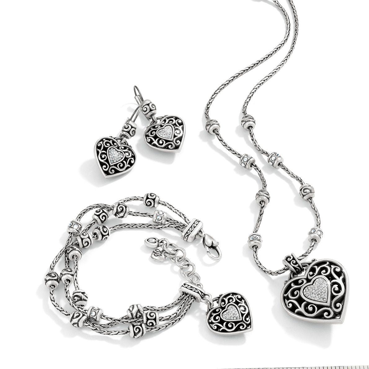 88e83ef236 Reno Heart Necklace in 2019 | Silver Jewelry | Jewelry, Brighton ...