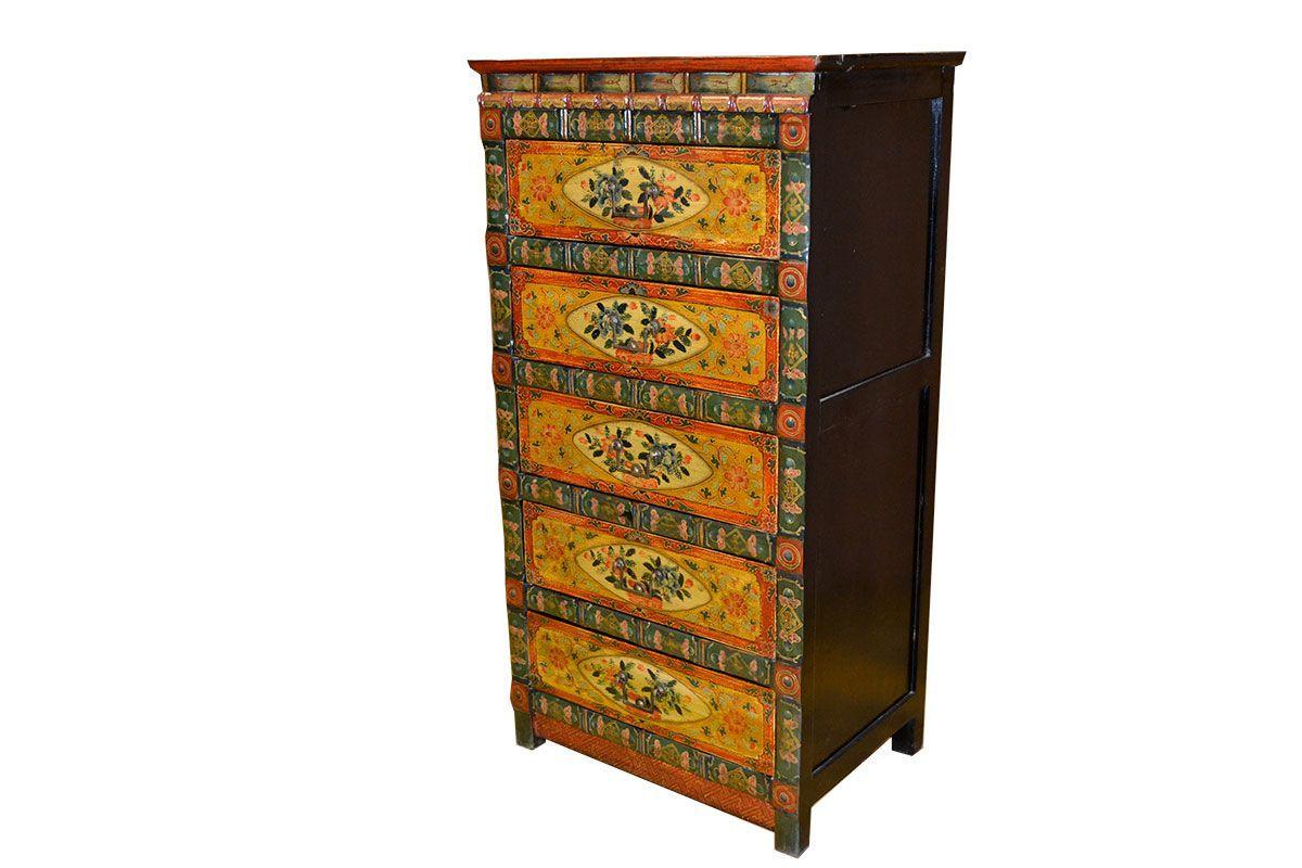 Commode tibétaine Lanzhou - meuble tibétain