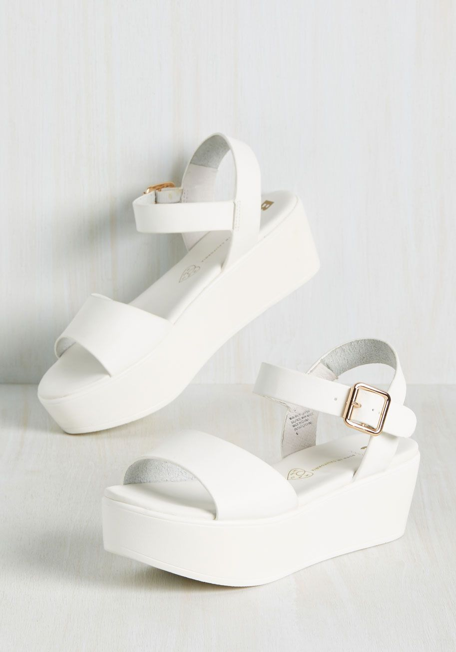 a3ae00004f8 True to Flatform Sandal. Seeing you in these white flatforms by BC Footwear  verifies that the only predictable aspect of your style is that its always  ...