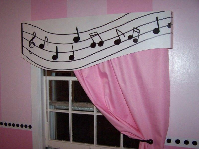 Curtain Design For Music Theme Bedroom -- http://kaamz.com/curtain ...