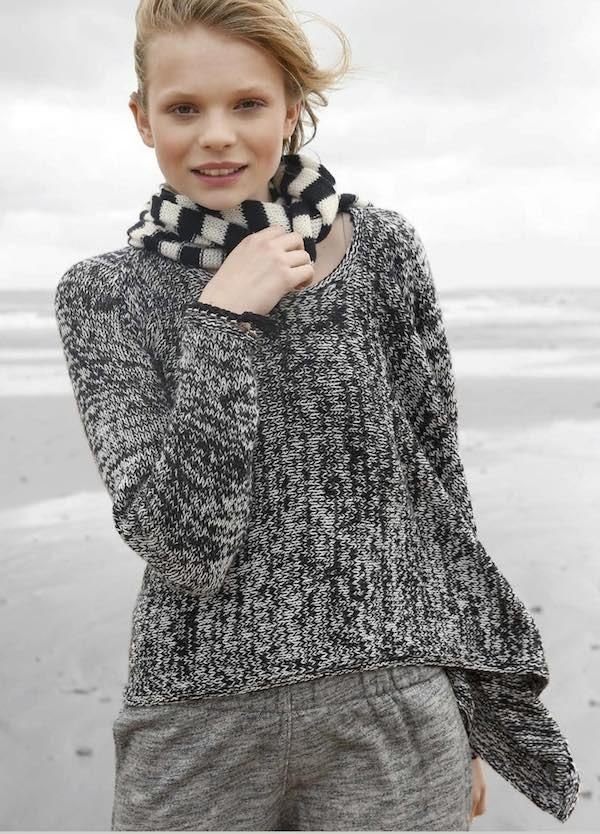 Poncho with sleeves and uneven hem in ggh Lacy - Rebecca ...