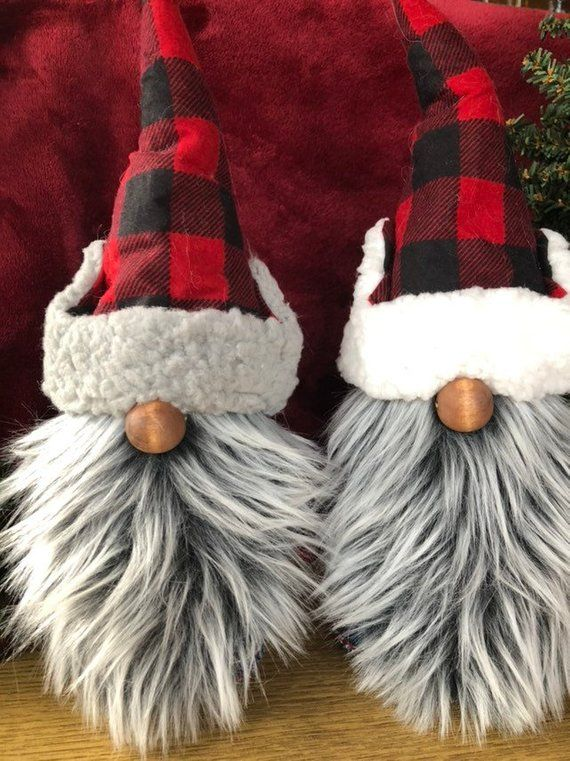The Minnesota woodsman Paul Bunyan  PB   is a 13 inch gnome, nisse, tomte ready for a wilderness adventure! is part of Diy gnomes - gray hat with gray liner  White felt body  Gray straight beard