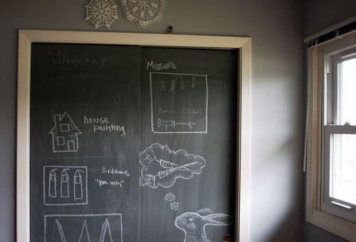 Paint Closet Doors With Chalkboard Paint Diy Closet Doors Painted Closet Diy Closet