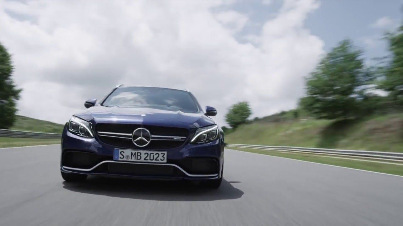 2015 Mercedes Benz C63 AMG Estate at racetrack