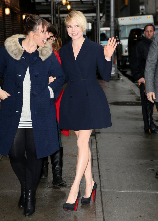 a71ddd5de68 Celebrities in Louboutins... Michelle Williams in the most comfortable  Louboutins available