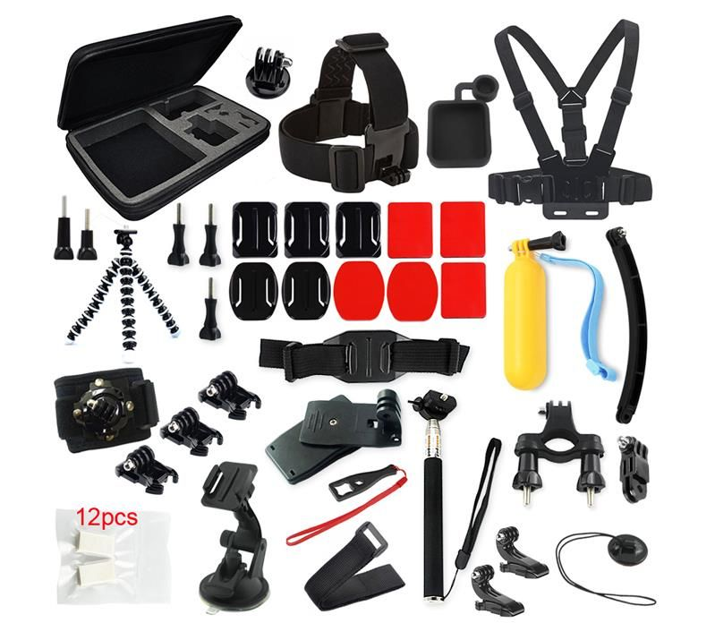 For GoPro accessories 36 in 1 Family Kit For Go Pro accessories set For GoPro accessories package for GoPro HD Hero 4 3+ 3 2