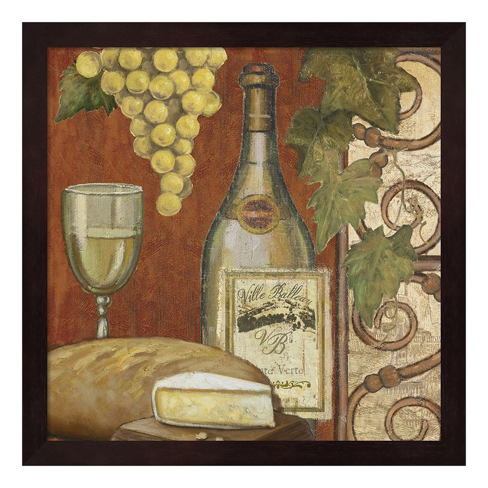 Metaverse art wine and cheese tasting framed wall art cheese