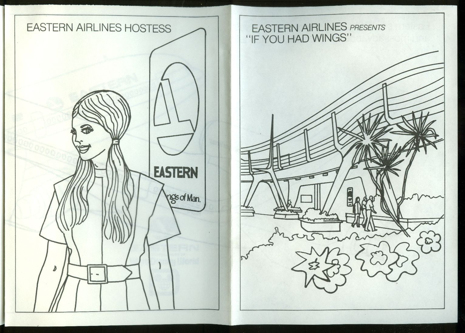 Eastern Airlines L-1011 Walt Disney World airline Coloring Book ...