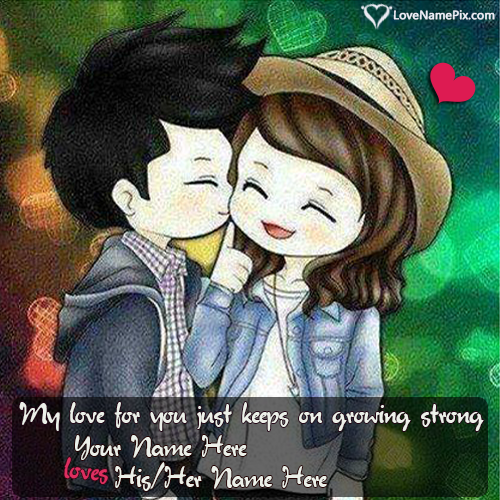 Write His Name On Cutest Love Quotes For Him Photos With Her Name