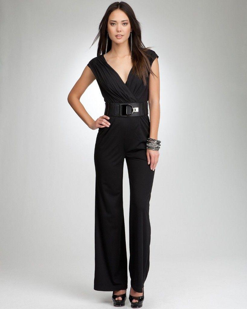 Bebe Blaize Belted Jumpsuit Dresses 2012