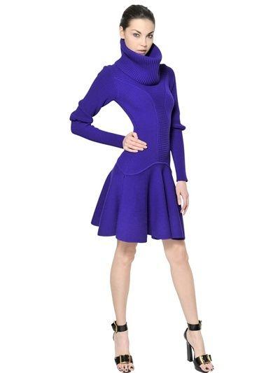 Alexander McQueen Extra Fine Merino Wool Knit Dress on shopstyle.com