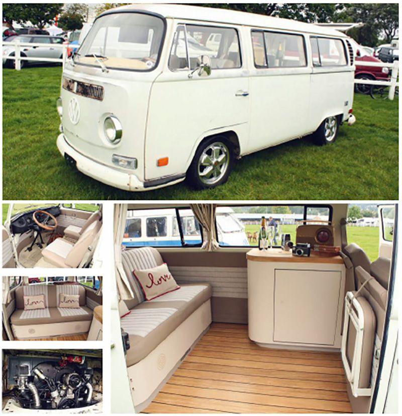 71 type 2 baywindow vw camper pinteres for Vw kombi interior designs