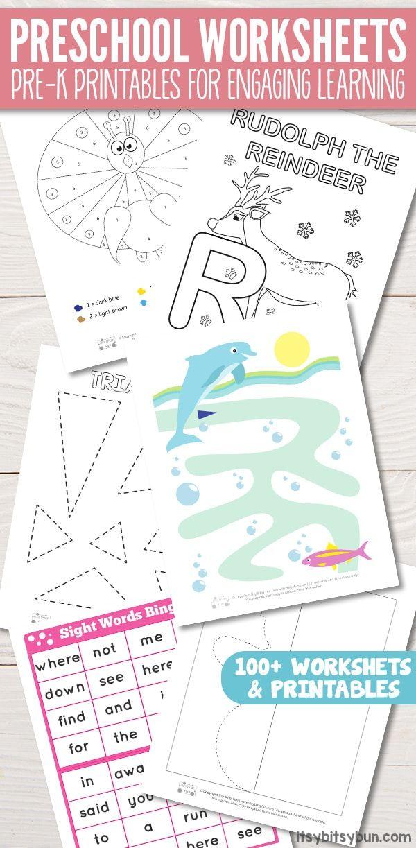 Preschool Worksheets - Pre-K Printables for Engaging Learning   Kids ...